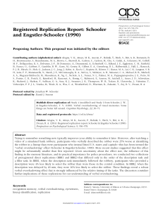 Registered Replication Report: Schooler 545653