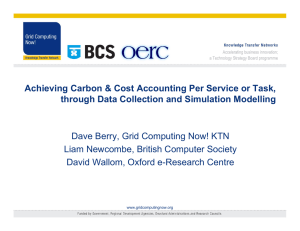Achieving Carbon & Cost Accounting Per Service or Task,