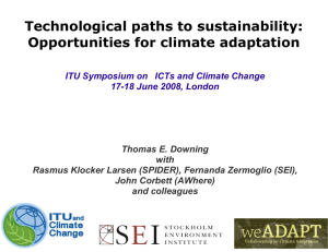Technological paths to sustainability: Opportunities for climate adaptation