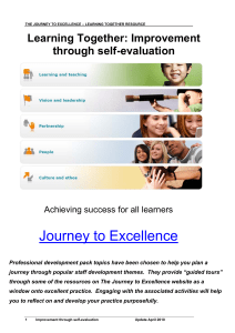 Journey to Excellence Learning Together: Improvement through self-evaluation