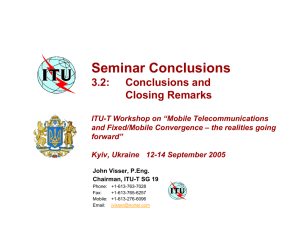 Seminar Conclusions 3.2: Conclusions and Closing Remarks