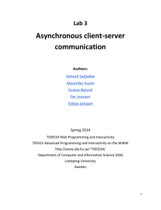 Asynchronous client-server communication  Lab 3
