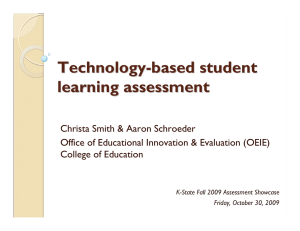 Technology - based student learning assessment
