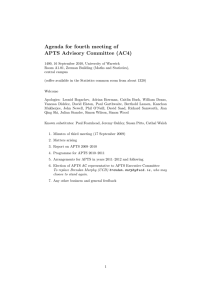Agenda for fourth meeting of APTS Advisory Committee (AC4)