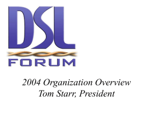 2004 Organization Overview Tom Starr, President