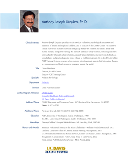 Anthony Joseph Urquiza, Ph.D.
