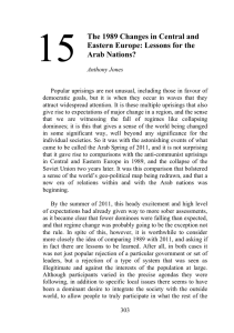 15 The 1989 Changes in Central and Eastern Europe: Lessons for the