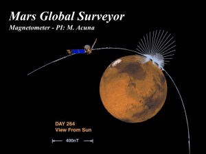 Mars Global Surveyor Magnetometer - PI: M. Acuna