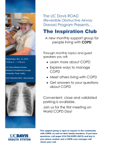 The Inspiration Club The UC Davis ROAD Program Presents… (Reversible Obstructive Airway