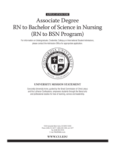 Associate Degree RN to Bachelor of Science in Nursing