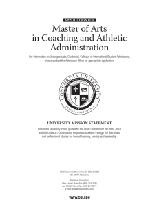Master of Arts in Coaching and Athletic Administration