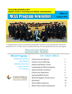 MCAA Program Newsletter