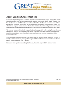 About Candida fungal infections