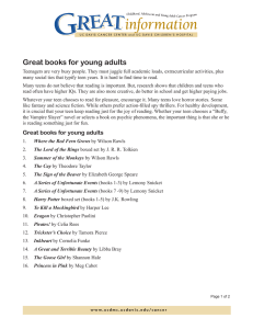 Great books for young adults
