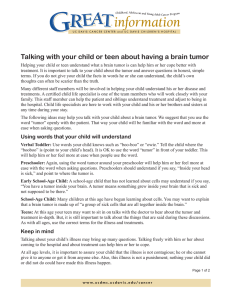 Talking with your child or teen about having a brain...