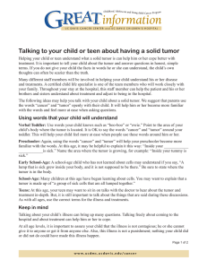 Talking to your child or teen about having a solid...
