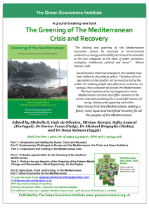 The Greening of The Mediterranean Crisis and Recovery Green Economics Institute The