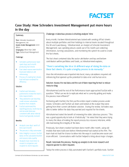 Case Study: How Schroders Investment Management put more hours