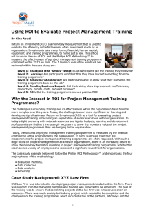 Using ROI to Evaluate Project Management Training