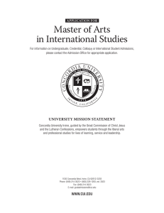 Master of Arts in International Studies