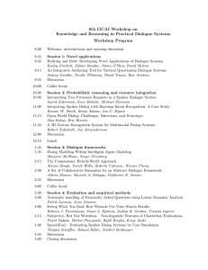 6th IJCAI Workshop on Knowledge and Reasoning in Practical Dialogue Systems