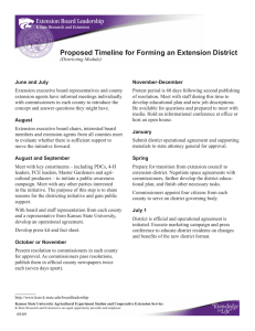 Proposed	Timeline	for	Forming	an	Extension	District
