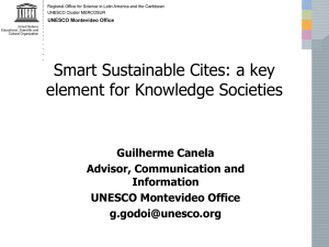 Smart Sustainable Cites: a key element for Knowledge Societies Guilherme Canela