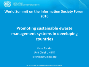 Promoting sustainable ewaste management systems in developing countries