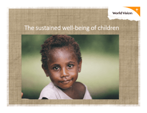 The sustained well‐being of children