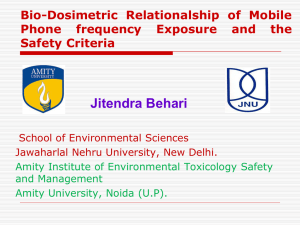 Jitendra Behari Bio-Dosimetric Relationalship of Mobile Phone frequency