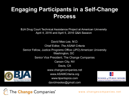 Engaging Participants in a Self-Change Process