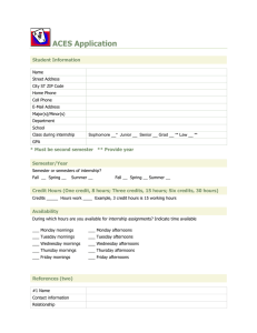 ACES Application  Student Information