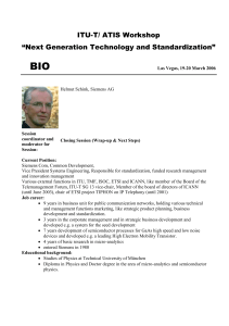 "BIO  ITU-T/ ATIS Workshop ""Next Generation Technology and Standardization"""