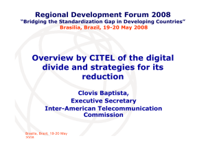 Overview by CITEL of the digital divide and strategies for its reduction