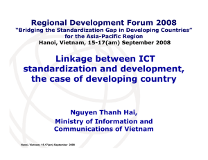 Linkage between ICT standardization and development, the case of developing country