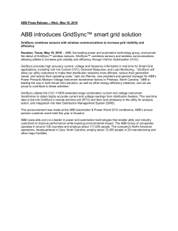 ABB introduces GridSync™ smart grid solution