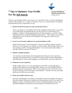 7 Tips to Optimize Your Profile  For the Job Search