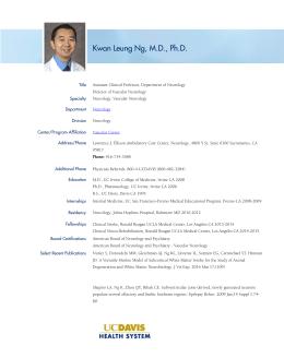 Kwan Leung Ng, M.D., Ph.D.