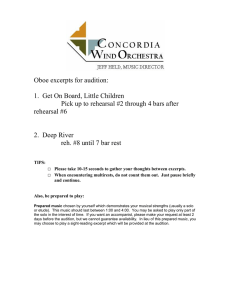 Oboe excerpts for audition:  1.  Get On Board, Little Children