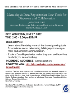 Mendeley & Data Repositories: New Tools for Discovery and Collaboration Jonathan Cain