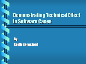 Demonstrating Technical Effect in Software Cases By Keith Beresford