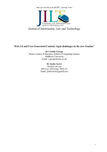 Journal of Information, Law and Technology