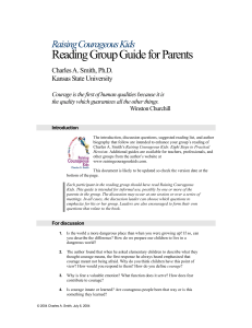 Reading Group Guide for Parents Raising Courageous Kids Charles A. Smith, Ph.D.
