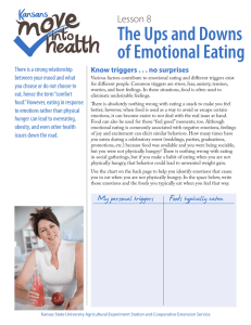 The Ups and Downs of Emotional Eating Lesson 8