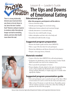 The Ups and Downs of Emotional Eating Lesson 8 — Leader's Guide