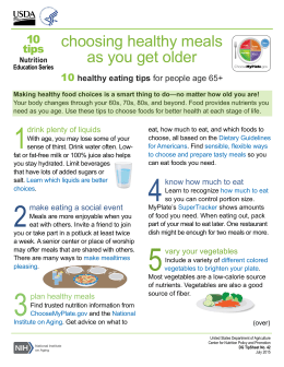 choosing healthy meals as you get older 10 tips