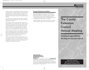 Program Planning Committees Research and Extension