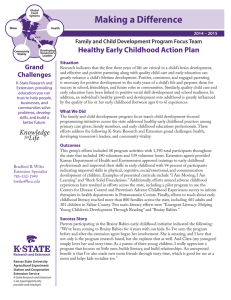 Making a Difference Healthy Early Childhood Action Plan Grand