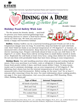 Holiday Food Safety Wish List