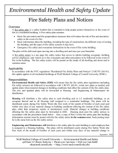 Environmental Health and Safety Update Fire Safety Plans and Notices Overview